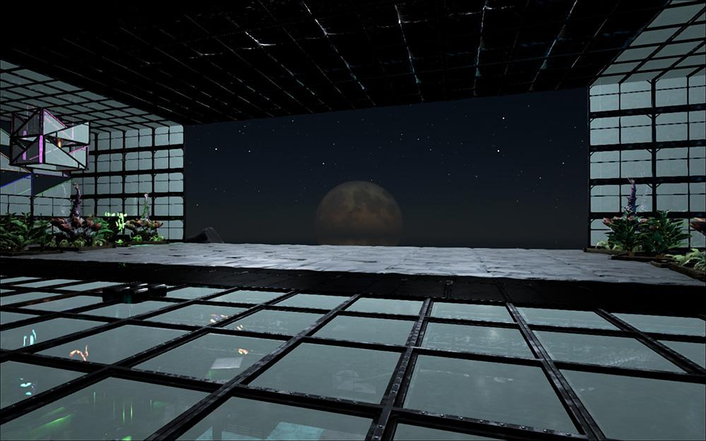 The fantastic view at night from the quetzal entrance for Arkitect home