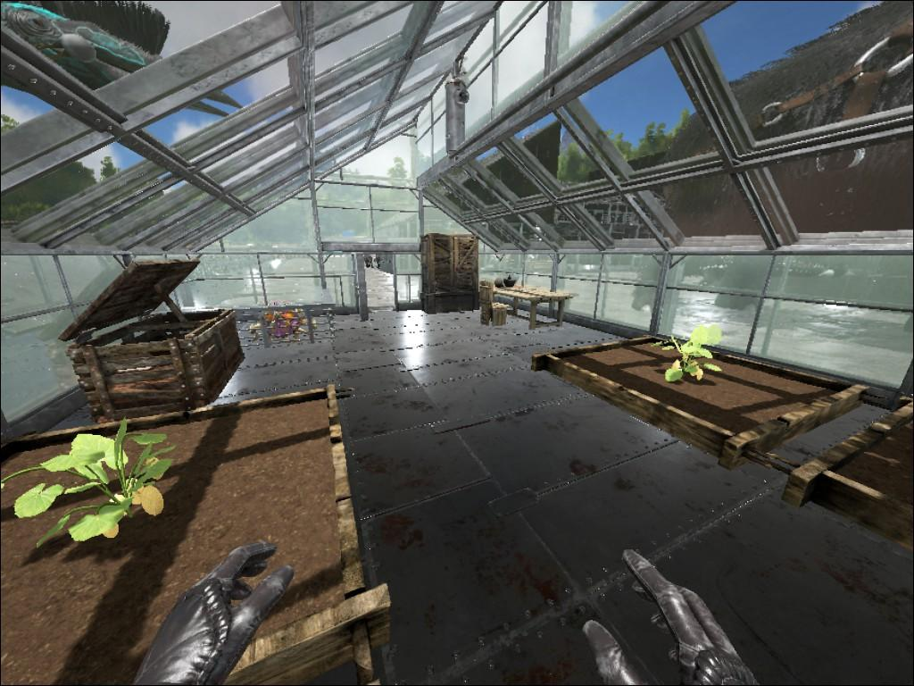 Les blueprint ark new metal spike wall ficial ark survival evolved ai main base greenhouse inside malvernweather Image collections