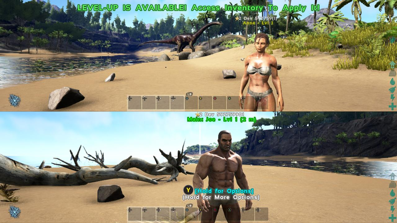how to change view in ark ps4