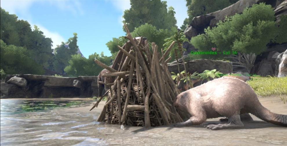ARK: Survival Evolved - BEAVER DAM INVENTORY LOOT TRICK ...   Ark Beaver Dam
