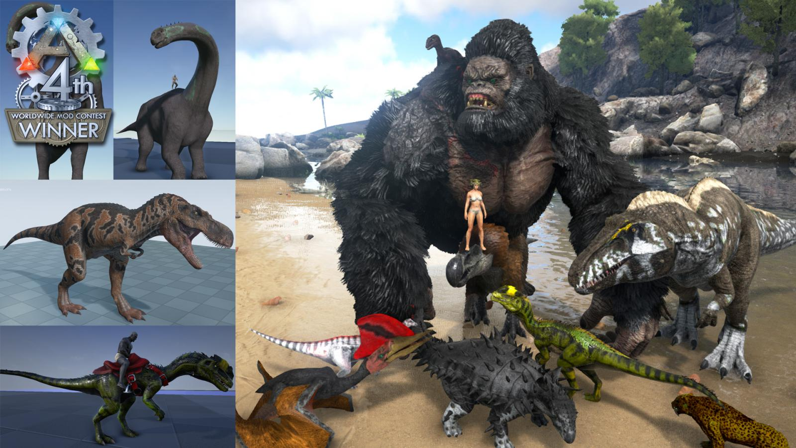 Complexmindeds content ark official community forums its always fun to see how modders use existing content and modify it to create new experiences cool 13 new creatures gives an exciting new way to look at malvernweather Image collections