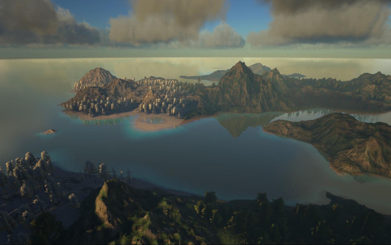 Official Procedural Ark Island Map