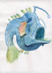Angler Watercolor
