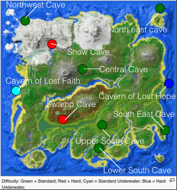 Ark Caves On Map The Island