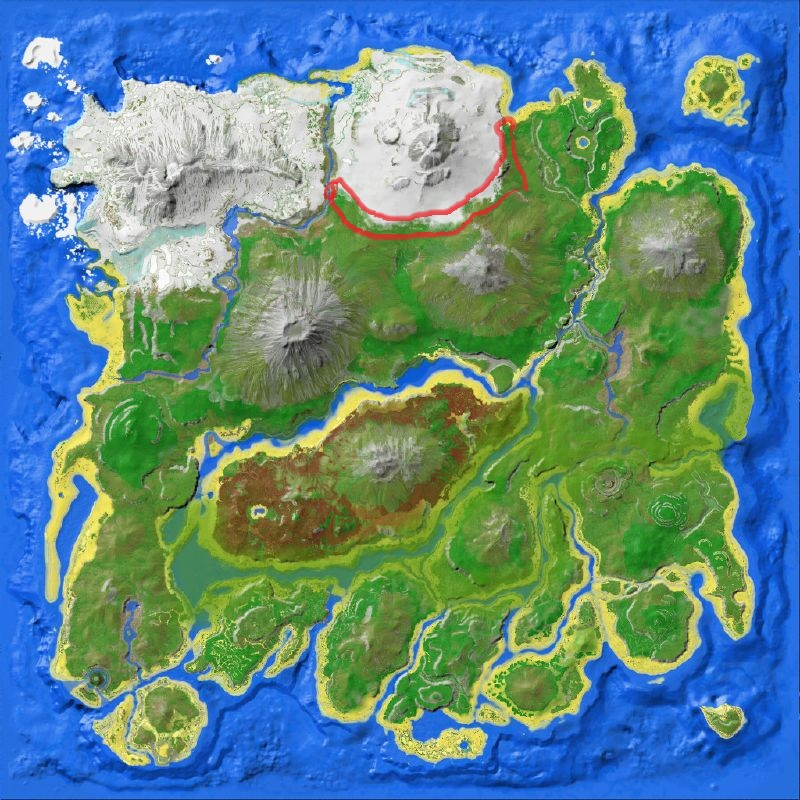 Ark Map Red Island