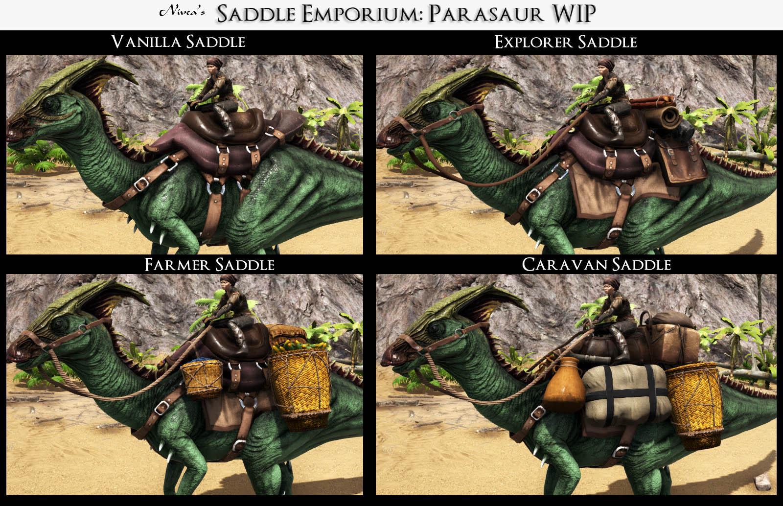 The Saddle Emporium Parasaur WIP