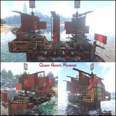 """Blackbeard's ship from the """"Pirates of the Caribbean"""" films."""