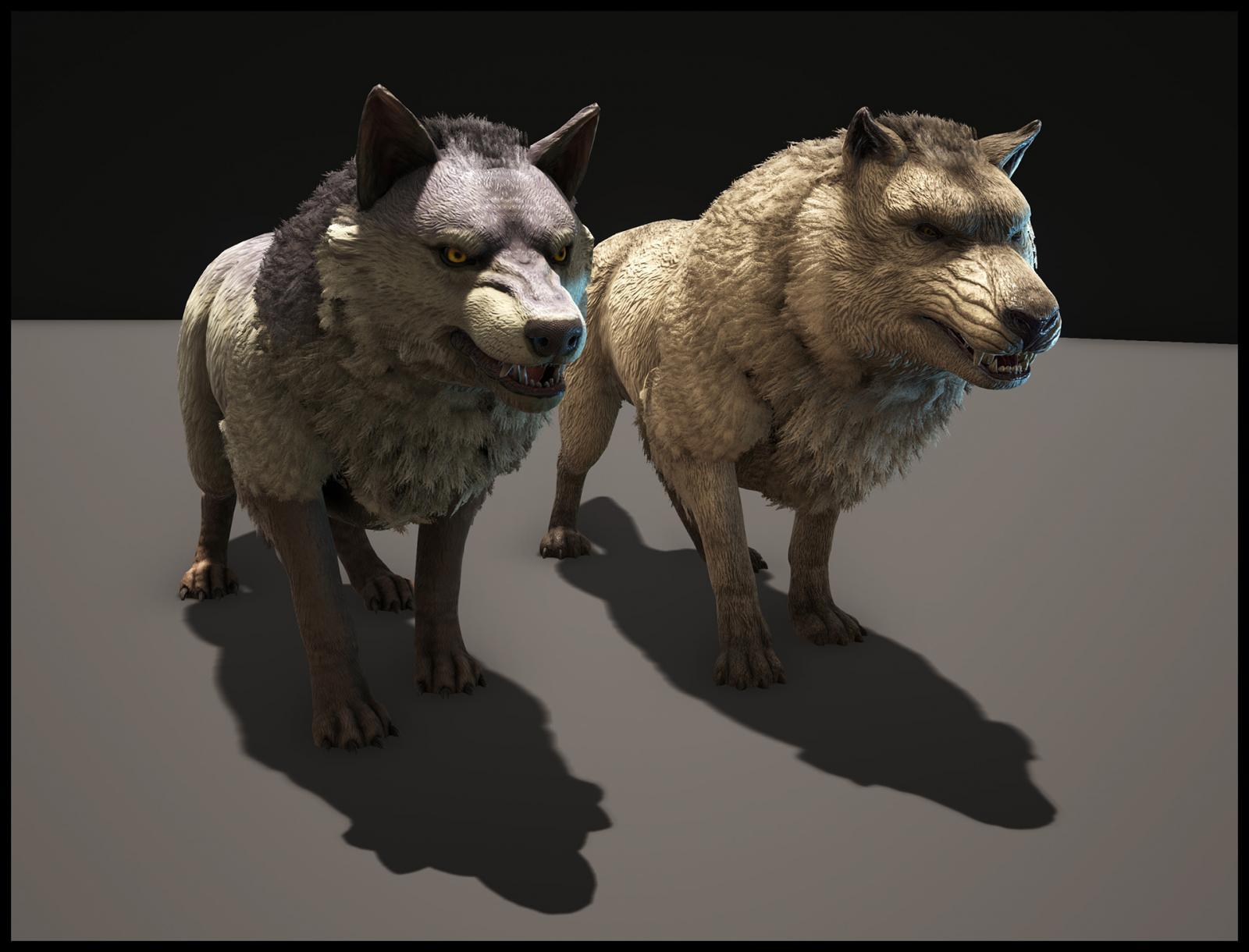 Dino TLC in Progress - Wolf