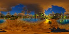 Wolf Amaterasu - Evening at the Beach - 360.jpg