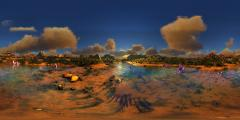 Wolf Amaterasu - Tropical Sunset - 360.jpg