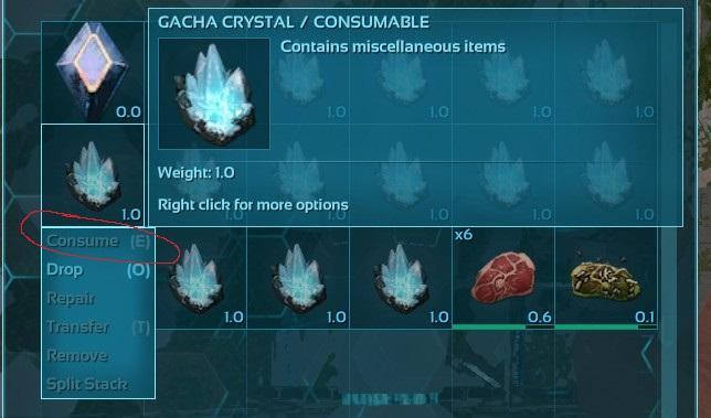 Gacha can't consume crystal (single player) - General Discussion