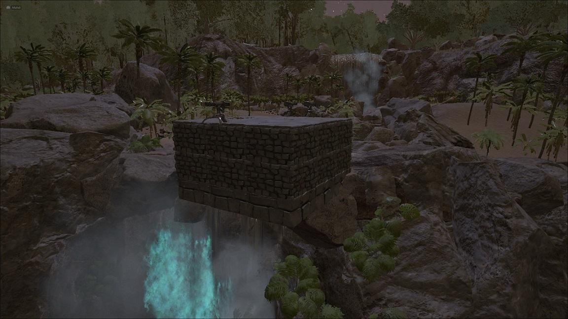 Raft Teleport above waterfall on Island map - Bug Reports & Support